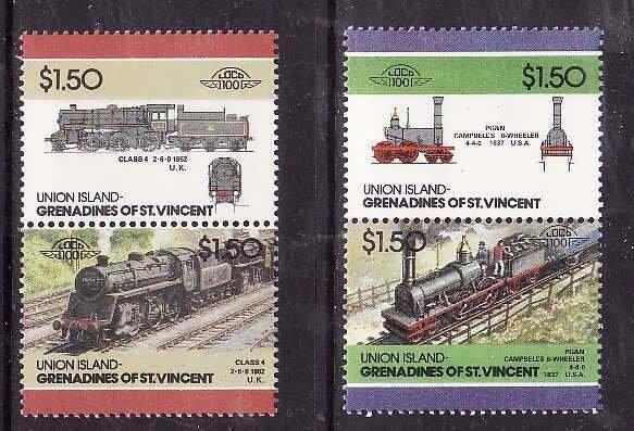Union Is-Grenadines of St Vincent-Sc#49- id6-unused NH set-Trains-Locomotives-19