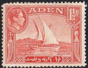 Aden 19391½a scarlet  MH