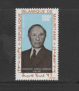 MAURITANIA #C71  1968 KONRAD ADENAUER    MINT  VF NH  O.G