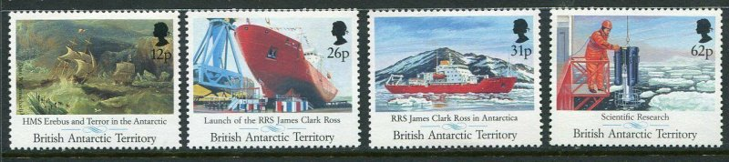 British Antarctic Territory Scott 184-87 1991 Research Ship Mint NH