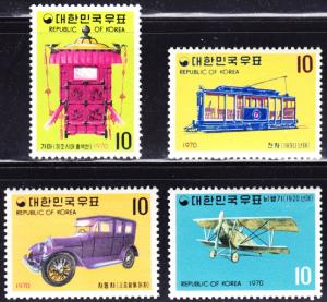 Korea Scott 704-707  complete set  F to VF mint OG H.