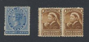 3x Canada Revenue Bill MNH stamps series 1 #FB8-8c  Series 3 #FB37 Pr  GV= 52.50