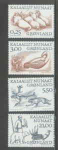 Greenland 358-61  MNH