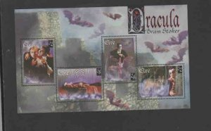 IRELAND #1089a  1987  SCENES FROM DRACULA    MINT  VF NH  O.G  S/S