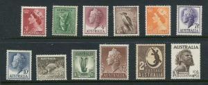 Australia #292-303 Mint
