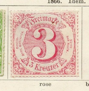 Tour & Taxis 1865-66 Early Issue Fine Mint Hinged 3kr. NW-04582
