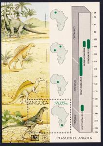 Angola Dinosaurs MS SG#MS1065 SC#910