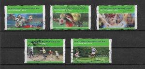 Germany 2003 sport  VFU Yt 2152 - 2156  postally used
