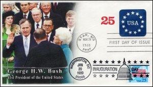 AO-U611, 1989, George H W Bush, Event Cover, Add-on Cachet, Inauguration