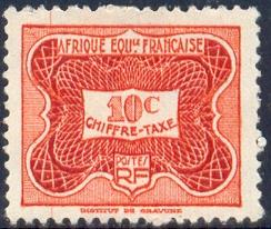 Postage Due Stamp, French Equatorial Africa SC#J12 mint