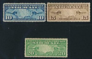 UNITED STATES (US) C7-C9 MINT VF NEVER HINGED(NH) MAPS