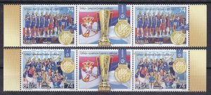 Serbia 2019 Europa Men and Women Volleyball Champions Sports Flags middle MNH