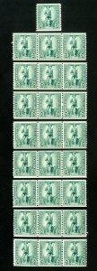 US Stamps # WS13 F-VF Lot of 25 OG NH Scott Value $125.00