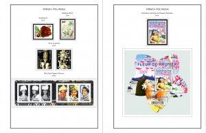 COLOR PRINTED FRENCH POLYNESIA 2011-2018 STAMP ALBUM PAGES (37 illustr. pages)