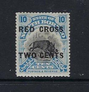 NORTH BORNEO SCOTT #B21 1918 SEMI-POSTAL 10C+2C- MINT  HINGED