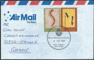 AUSTRALIA 1993 cover to Germany - nice franking - Sydney Pictorial pmk.....47147
