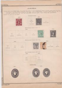 bahamas and bermuda stamps on album page ref r11369