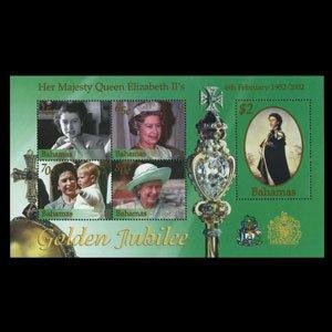 BAHAMAS 2002 - Scott# 1037 S/S Queen Birthday NH