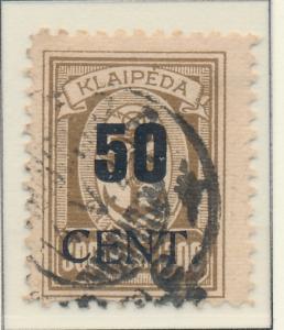 Memel Stamp Scott #N75, Used - Free U.S. Shipping, Free Worldwide Shipping Ov...