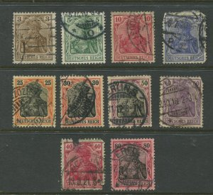 STAMP STATION PERTH Germany #65C-74 General Issue Used 1902 See scan