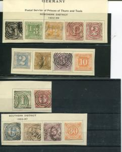 Thurn & Taxis 1852 lot  used F- VF