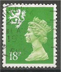 GREAT BRITAIN, SCOTLAND, 1971, used 18p, MACHINS  Scott SMH35