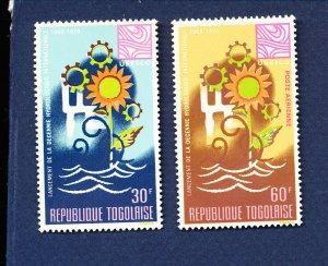 TOGO - # 640 & C90   - VFMNH - UNESCO - 1968