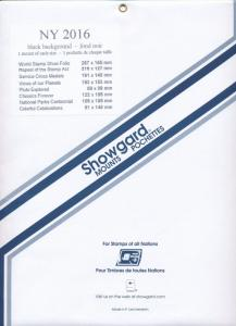 Showgard Stamp Mounts New York 2016 BLACK background Pack of 8