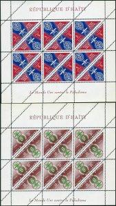 Haiti 486-488,C188-C190 sheets,MNH.Mi 697-702 klb.WHO drive against Malaria,1962