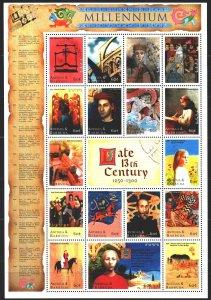 Antigua and Barbuda. 2000. Small sheet 3233-49. Millennium, 13th century, Mrk...