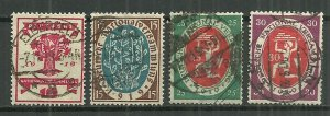 1919-20 Germany 105-8 Republic National Assembly Issue used SCV$6.00