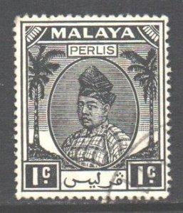 Malaya Perlis Scott 7 - SG7, 1951 Sultan 1c used