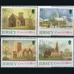 JERSEY 1990 - Scott# 549-52 Christmas-Churches Set of 4 NH