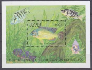 1990 Uganda 881/B128 Marine fauna 9,00 €