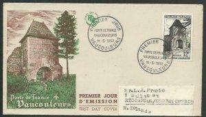 FRANCE 1952 Vaucouleurs commem FDC to New Zealand..........................64166