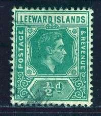 Leeward Islands; 1938: Sc. # 104; O/Used Single Stamp