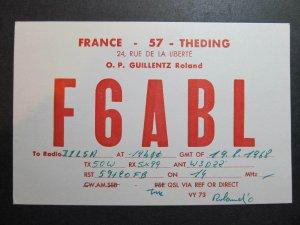 10369 Amateur Radio QSL Card THEDING FRANCE