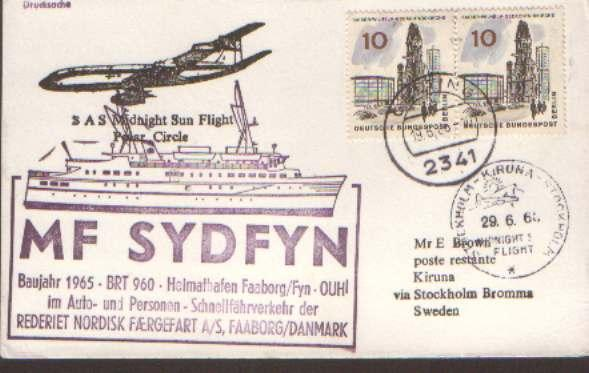 Germany 1960 Midnight Sun Arctic Circle special flight