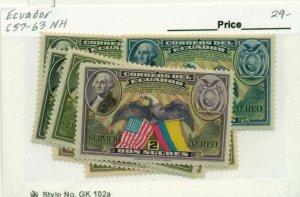 ECUADOR #C57-63, Mint Never Hinged, Scott $29.00