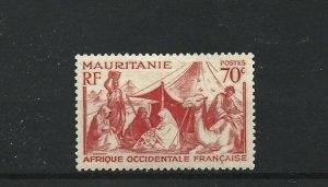 MAURITANIA  1938 - 40  70C  SCARLET      MH
