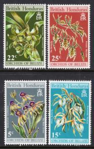 British Honduras 255-258 Orchids MNH VF