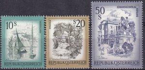 Austria #972, 975-6  MNH CV $18.10 (Z3040)