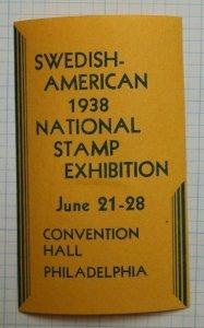 Swedish Americans Stamp Club PA 1938 Crayola Crayon Philatelic Souvenir Ad Label