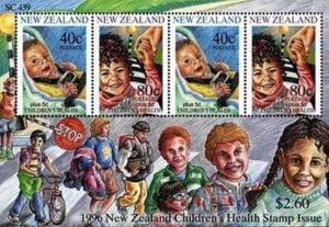 New Zealand S/S Health 1996  Sc B152a MNH