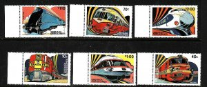 Grenada Grenadines-Sc#509-14-unused NH set-Trains-Locomotives-1982-
