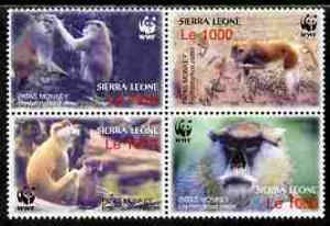 Sierra Leone 2004 WWF - Endangered Species - Patas Monkey...