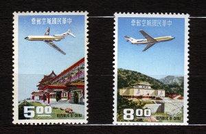 J22980 JLstamps 1967 taiwan china set mnh #c76-7 airplanes