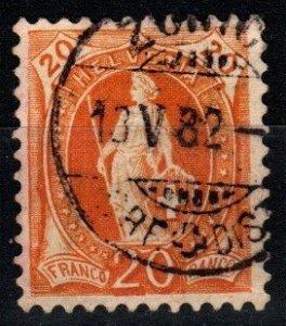 Switzerland #82 F-VF Used  CV $7.75 (X1413)