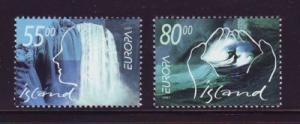 Iceland Sc 937-8 2001 Europa stamp set mint NH