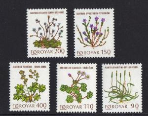 Faroe Islands 1980 MNH flowers complete set